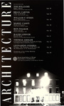 Architecture: Fall Lecture Series 1984