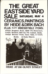 The Great East Side Yard Sale: Saturday May 4: Ceramics and Paintings: By Heide & Dirk Bach