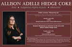 Allison Adelle Hedge Coke: Measuring UpLecture and Student Activism Workshop by Liberal Arts Division`