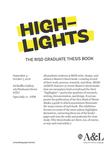 2018 Highlights | The RISD Graduate Thesis Book by Campus Exhibitions, Center for Arts & Language, and Elizabeth Leeper