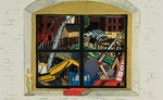 Tunnel Vision: the big dig view from my studio window on the corner of