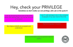 Check Your Privilege by Intercultural Student Engagement