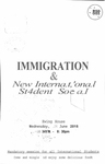 Immigration & New International Student Social