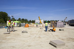 Solar Decathlon 2014: Techstyle Haus construction 1 by Architecture Department and Jonathan Knowles