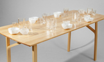 Table and glassware by Architecture Department and Jonathan Knowles